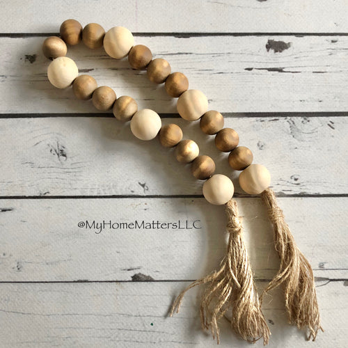 Wooden Beads Brown/Natural