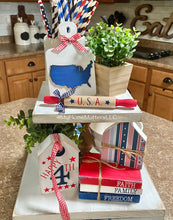 Load image into Gallery viewer, Tiered Tray Set - Patriotic 2021