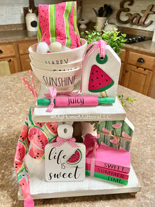 Tiered Tray Set - Watermelon Theme