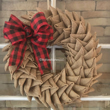 Load image into Gallery viewer, Burlap Triangles Wreath