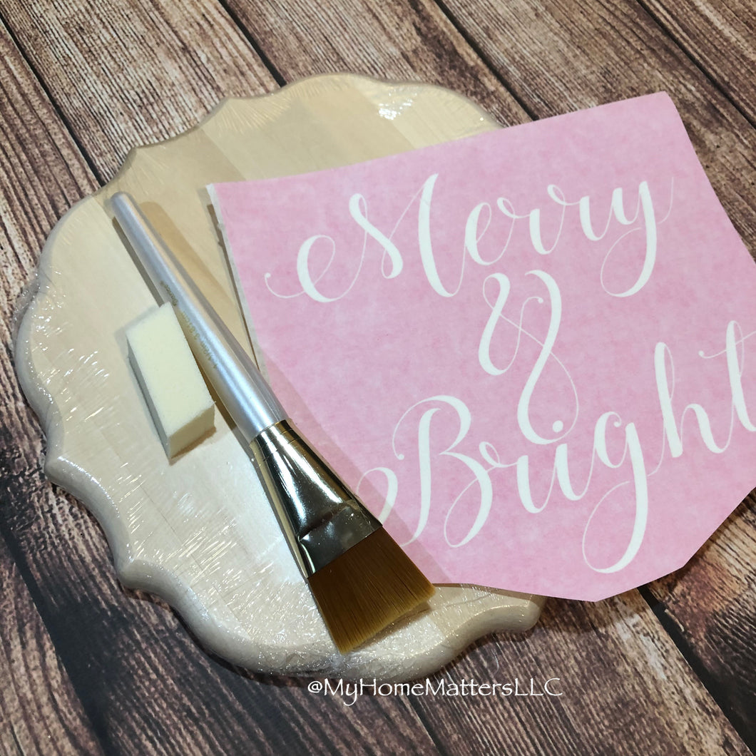 Basic Box Kit - Merry & Bright Sign