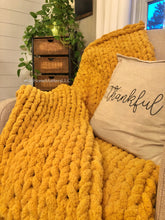 Load image into Gallery viewer, Chunky Blanket - Mustard Yellow