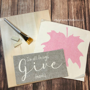 Basic Box Kit - Layered Give Thanks Sign