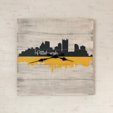 Load image into Gallery viewer, Pittsburgh skyline clock