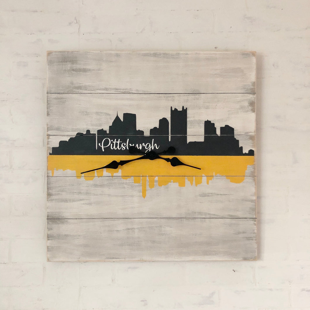Pittsburgh skyline clock