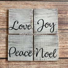 Load image into Gallery viewer, Wooden Coasters - Holiday Words