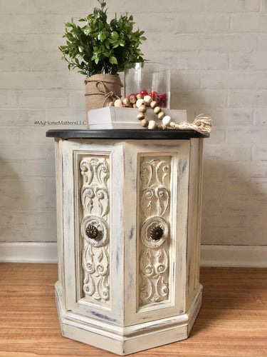 French Themed Side Table/Night Stand