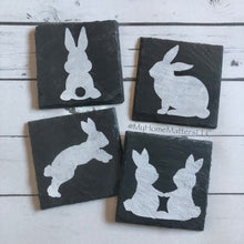Load image into Gallery viewer, Bunny Coasters - Slate