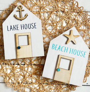 Mini House Sign - Beach or Lake