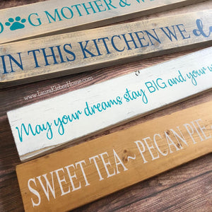 4x24 inch wood signs