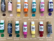 small bottles of paint