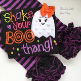 Shake Your Boo Thang girls Halloween bodysuit or shirt - Darling Little Bow Shop