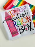 Girls School Shirt - Cutest Crayon in the Box - Darling Little Bow Shop