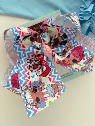 "Doll hairbow - large 7"" bow - Darling Little Bow Shop"