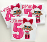 Diva Doll Birthday Shirt or bodysuit for girls - Darling Little Bow Shop