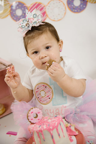 Donut 1st Birthday Tutu Outfit - Baby Girl Donut Birthday Outfit - Made in USA - Darling Little Bow Shop