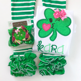 Smiling Shamrock Hairbow - Darling Little Bow Shop