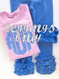 Cornflower Blue Ruffle Leggings - Cornflower Blue Icings - gorgeous knit ruffle leggings - size NB to 10 - Darling Little Bow Shop