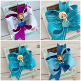Elsa or Anna hairbow - Darling Little Bow Shop