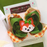Fox hairbow - Darling Little Bow Shop