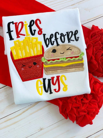 Fries Before Guys Shirt or bodysuit for girls - Darling Little Bow Shop