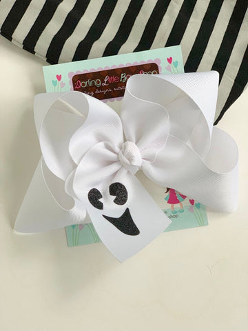 Ghost Face HairBow - Darling Little Bow Shop
