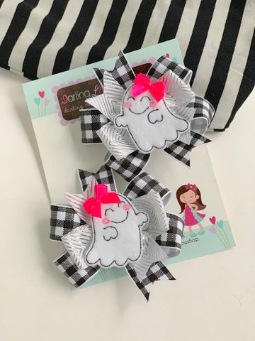 Ghost Pigtail bows - Darling Little Bow Shop