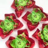 Grinch Hairbow - Darling Little Bow Shop