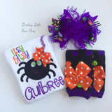 Baby Girl Spider Halloween Shirt -- Itsy Bitsy Spider - Darling Little Bow Shop