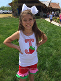 Strawberry shirt, tank top or bodysuit for girls, Strawberry Festival - Darling Little Bow Shop