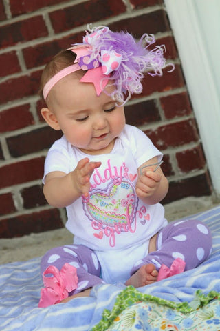 Daddy's Girl Outfit, Father's Day Outfit for baby girls - Darling Little Bow Shop