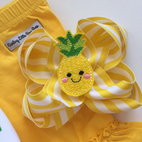 Pineapple HairBow - Darling Little Bow Shop