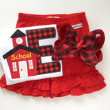 "Buffalo Plaid hairbow -- 6"" or 4-5"" hairbow with optional headband - Darling Little Bow Shop"