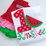 Watermelon birthday shirt, tank top or bodysuit - Darling Little Bow Shop