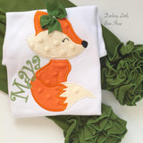 Fox bodysuit or shirt for girls, Woodland Friend - Darling Little Bow Shop
