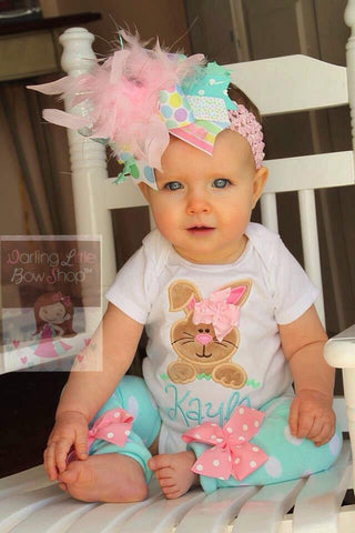 Baby Girl Easter Bunny Outfit - Hippity Hop - Darling Little Bow Shop