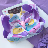 "Peep bow, Peep hairbow choose 4-5"" or 6-7"" bow - Darling Little Bow Shop"