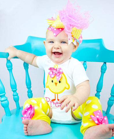 Easter Chick Outfit for baby girls - Hot Pink Chickie - Darling Little Bow Shop
