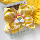 Sunshine Bow, Sun Bow, Sunshine Hairbow - Darling Little Bow Shop