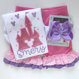 Fairytale Ruffle Shorties, Pink, Light Pink and Lavender Ruffle Shorts - Darling Little Bow Shop