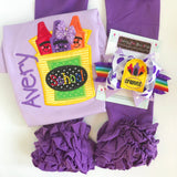 Purple Crayon Hairbow - Darling Little Bow Shop