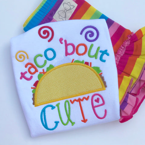 Taco bout CUTE shirt Taco shirt for girls - Darling Little Bow Shop