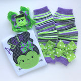 Halloween shirt or bodysuit for girls -- Monster Mash - Darling Little Bow Shop