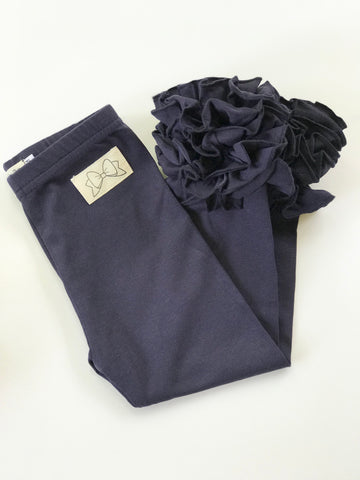 Navy Ruffle Leggings - navy blue Icings Ruffle Leggings - Darling Little Bow Shop