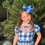 "Cornflower Blue Bow -- cornflower blue hairbow -- choose 3"" 4"" 5"" or 6"" bow -- AMAZING quality handmade in Tennessee - Darling Little Bow Shop"