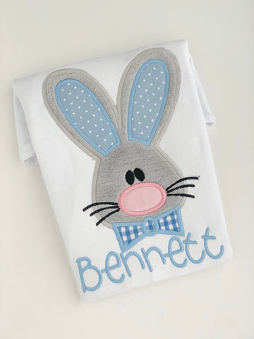 Easter Shirt or Bodysuit for boys -- Brother Rabbit -- Easter Bunny bodysuit or shirt -- pastel blue - Darling Little Bow Shop