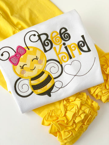 Bumblebee Bee Kind shirt or bodysuit for girls - Darling Little Bow Shop