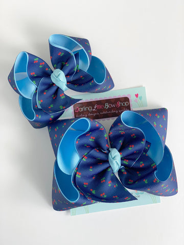"Hairbows to match Matilda Jane Brilliant Daydream - Summer Social - choose 4-5"" or 6"" bow - Darling Little Bow Shop"