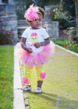 Baby Girl Easter Tutu Outfit - Hot Pink Chickie - Darling Little Bow Shop