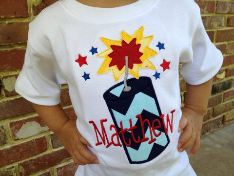 Firecracker Shirt for Boys - Darling Little Bow Shop